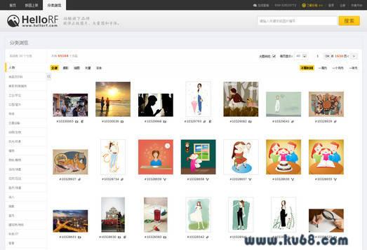 海洛创意HelloRF:正版图片、视频、音乐素材、字体交易平台