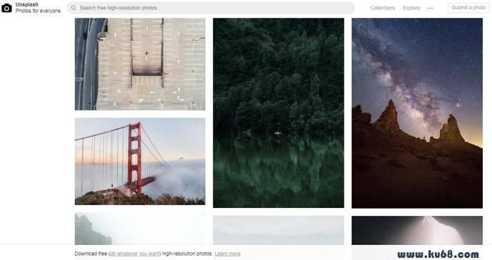 Unsplash:免费高清图片素材资源