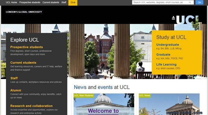 UCL:伦敦大学学院官方网站