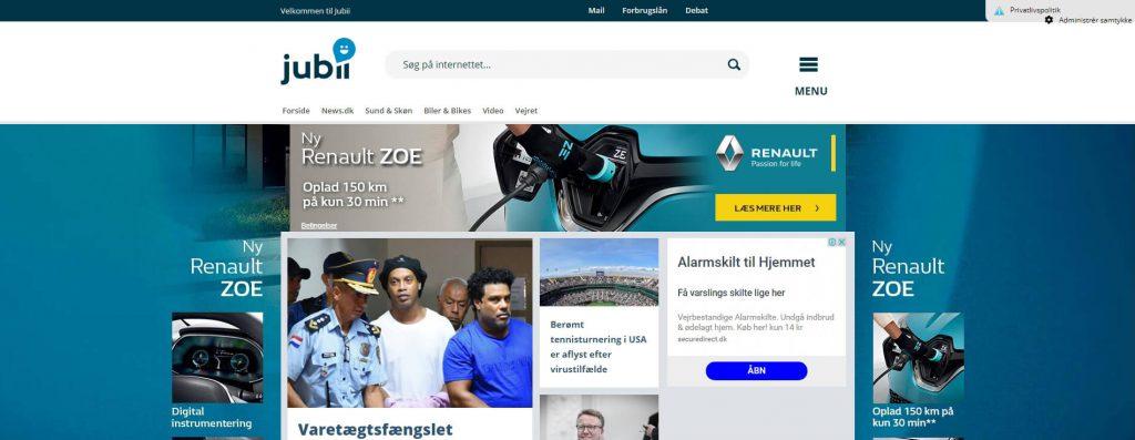 Jubii:丹麦门户搜索引擎网站