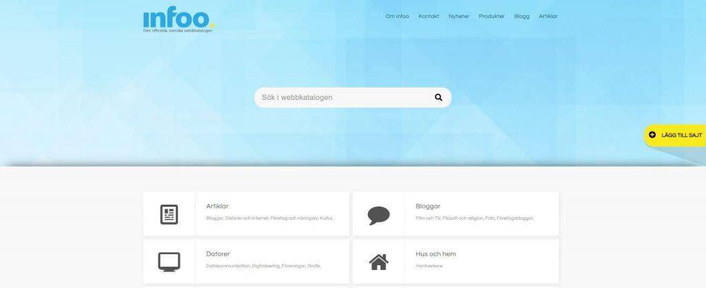 Infoo:瑞典目录搜索引擎网站