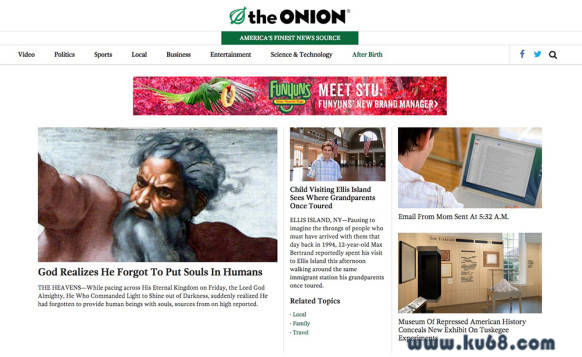 洋葱报The Onion:美国最好的新闻来源