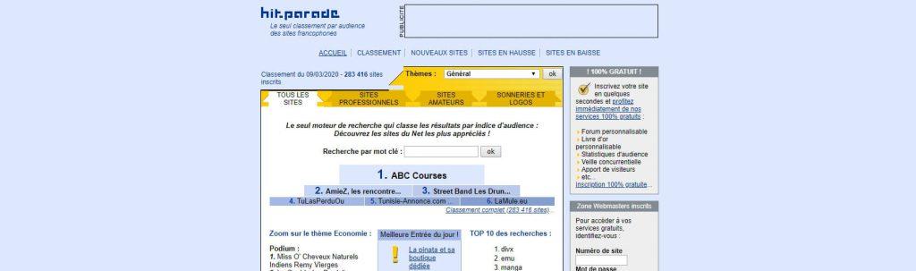 Hit-parade:法国目录搜索引擎网站