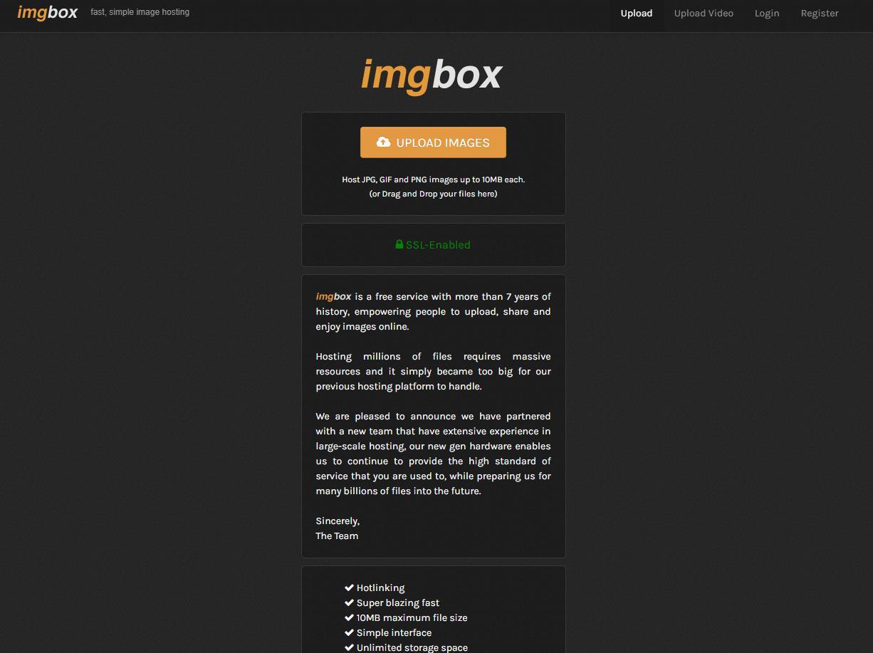 ImgBox官网 在线图片外链分享服务网