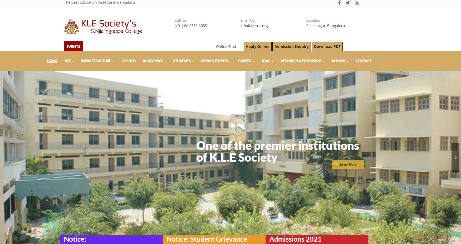 班加罗尔大学官网 印度公立大学