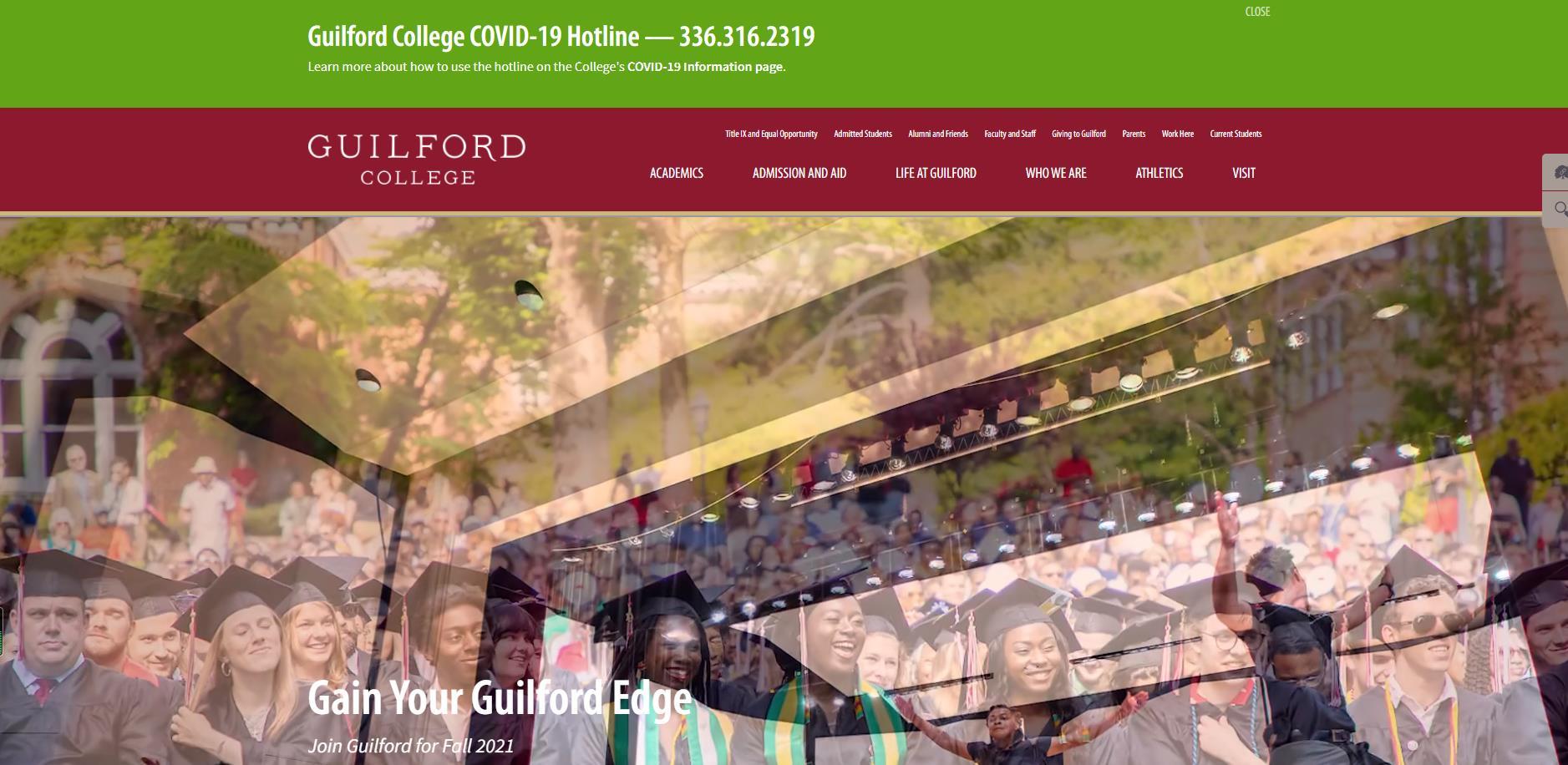 吉尔佛大学官网 美国私立大学 Guilford College