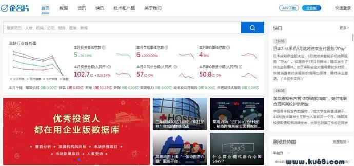 企名片:中国领先的商业社区和金融大数据平台