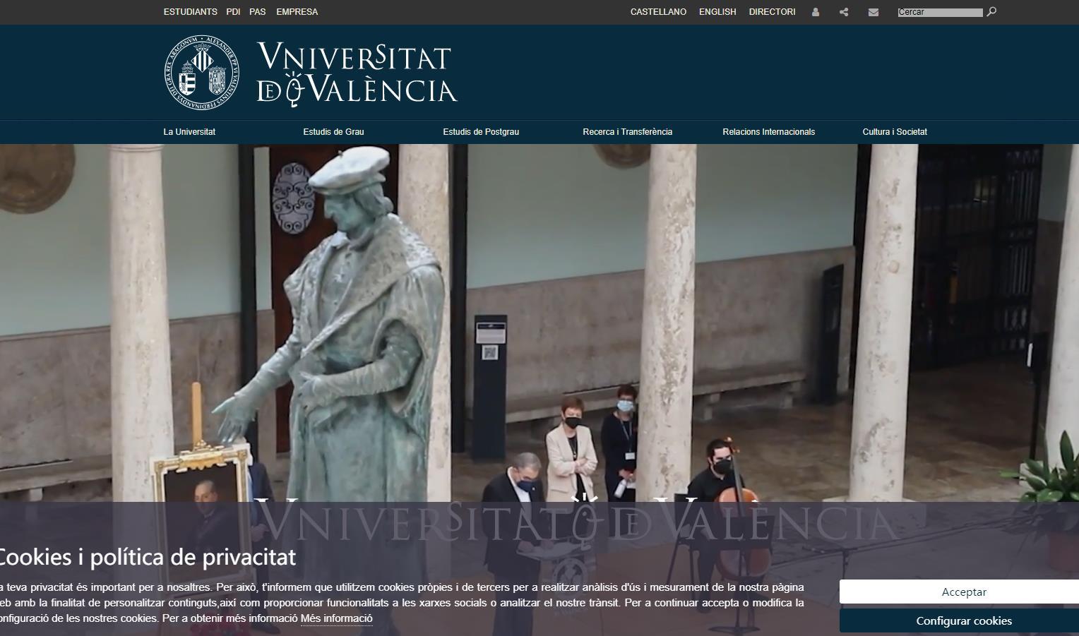 巴伦西亚大学(València)官网 西班公立大学