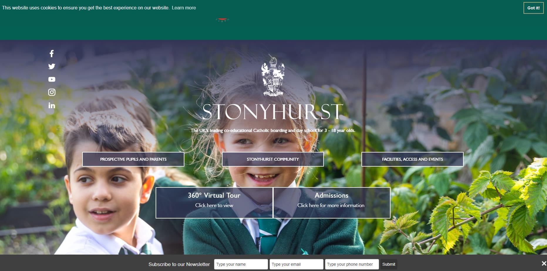 斯托尼赫斯特学院官网 Stonyhurst英国私立中学