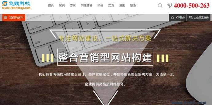 飞数科技:互联网一站式解决方案服务商