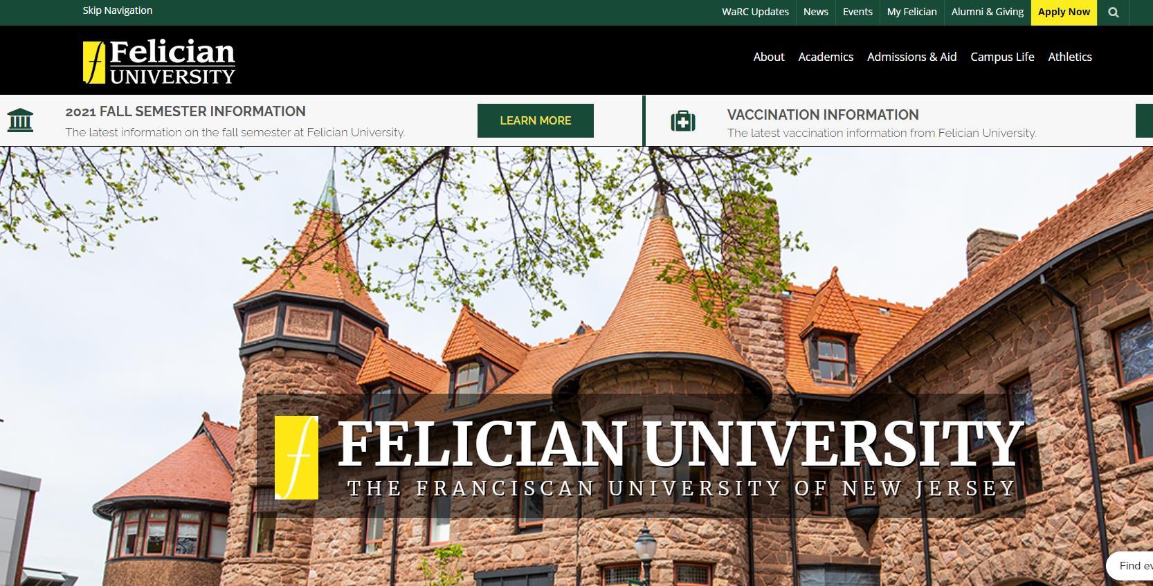 佛里森(Felician)大学官网 美国公立大学