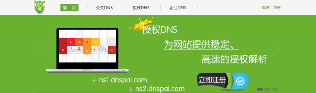 DNS派:稳定智能DNS域名解析服务商