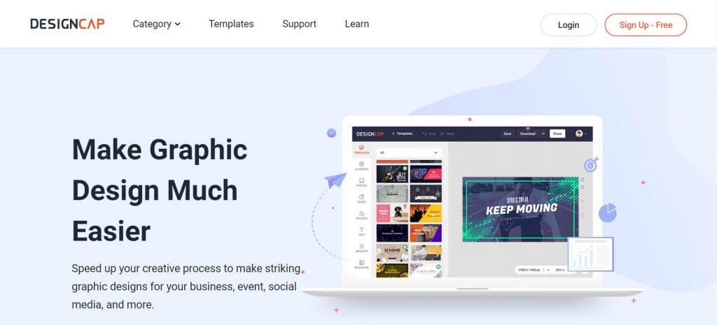 DesignCap:在线网页海报设计工具