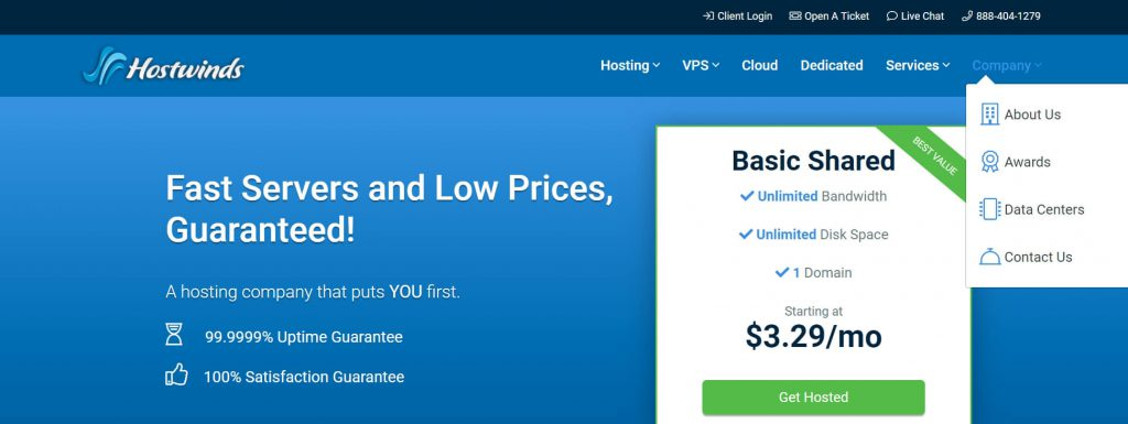 Hostwinds:国外云服务器租用托管平台