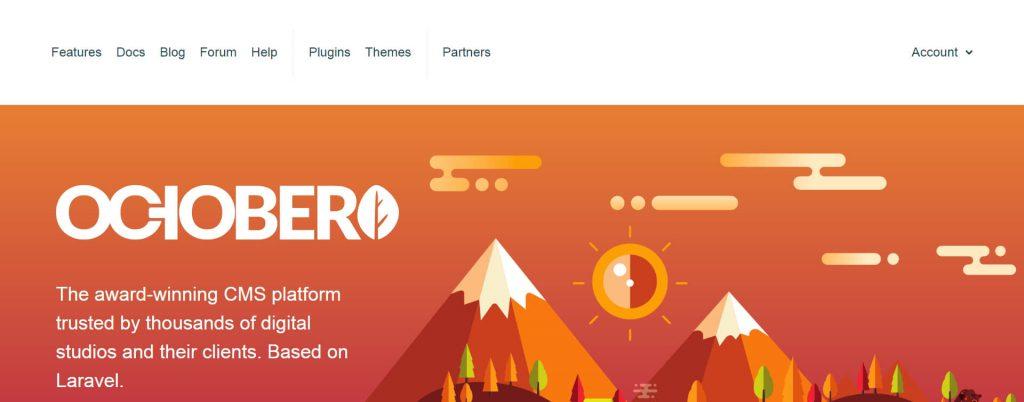 OctoberCMS:免费开源PHP开发框架CMS系统