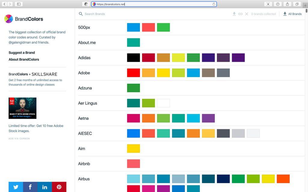 Brand Colors:世界知名品牌颜色收集网