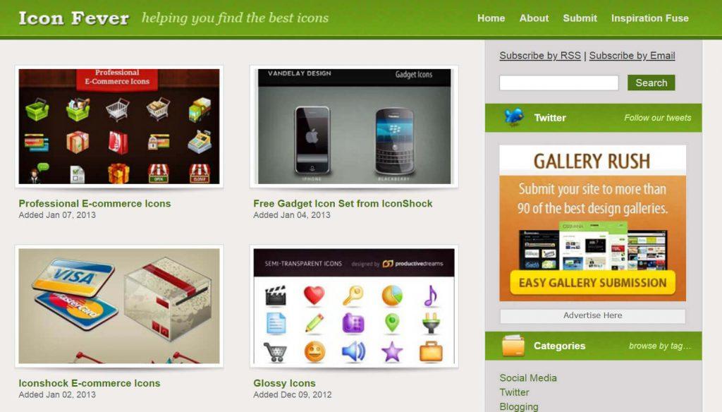 IconFever:免费Icons图标设计分享网