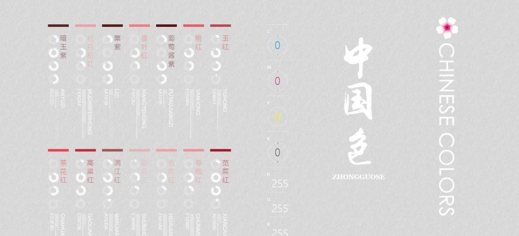 中国色:中国传统颜色色名和色谱