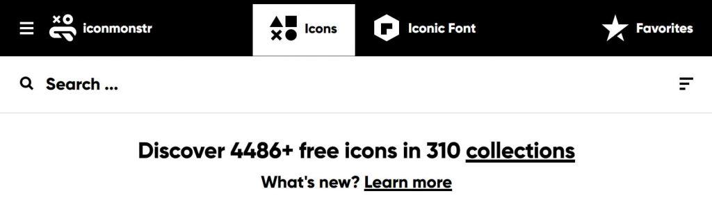 Iconmonstr:扁平化的矢量图标素材