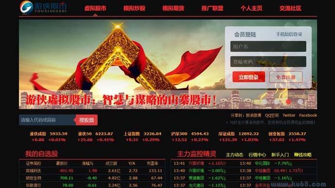 游侠股市:国内专业的虚拟炒股平台