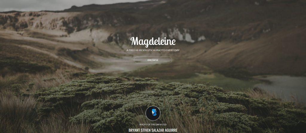 Magdeleine:免费高清灵感图片网站