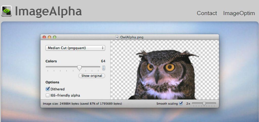 ImageAlpha:pngmini图像浏览及体积压缩工具