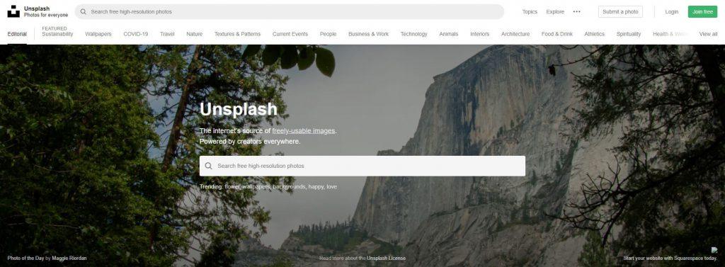 Unsplash:免费免版权图片分享平台