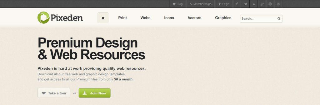 Pixeden:免费设计素材资源分享网站