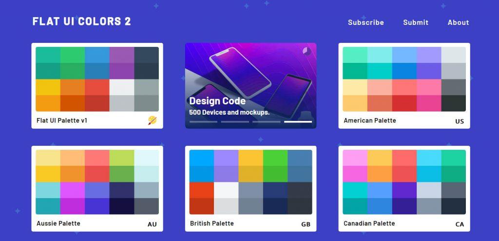 Flat UI Colors:扁平化ui设计配色网站