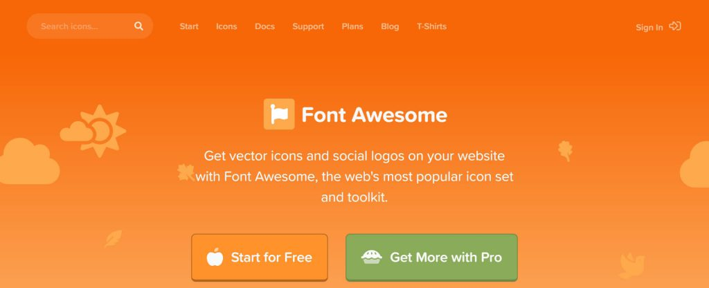 Font Awesome:图标字体库和CSS框架