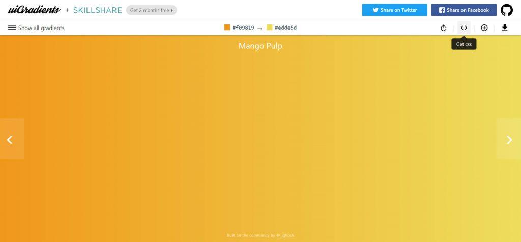 UIgradients:在线渐变色彩搭配网站