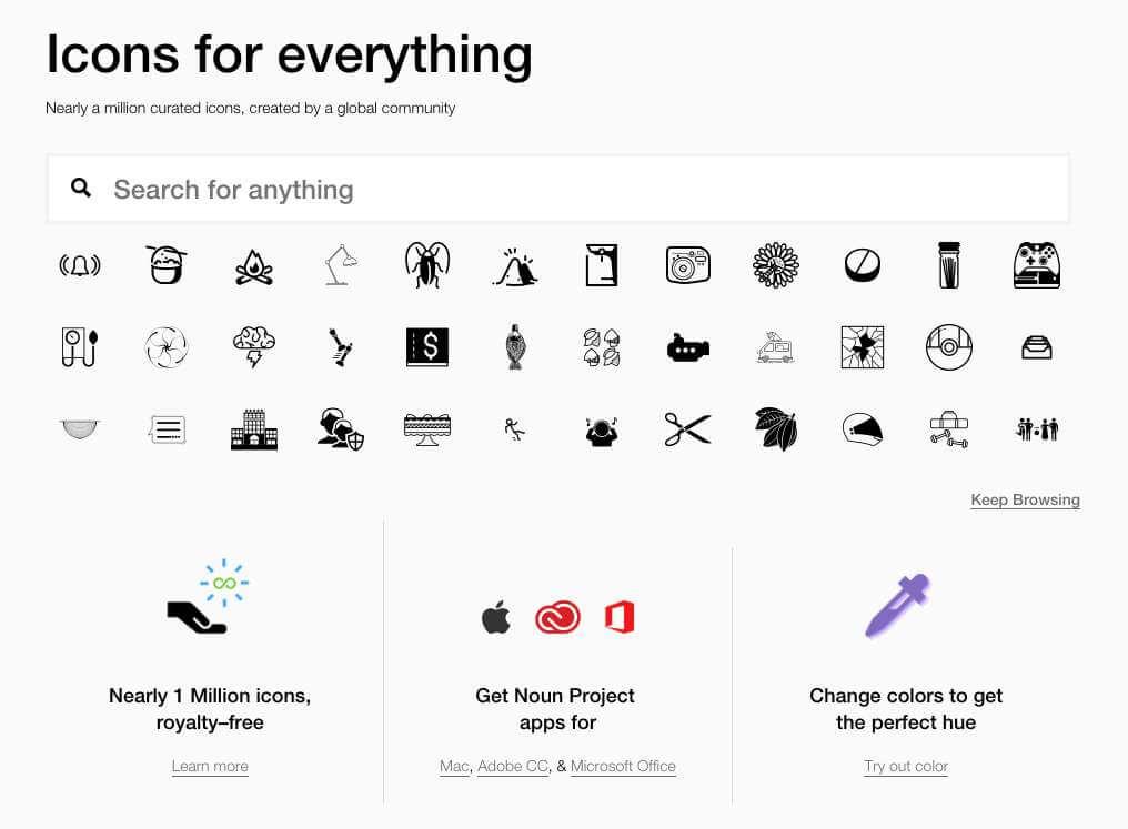 NounProject:免费高质量图标素材网站
