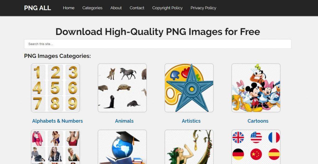 PNGALL:高质量png图片资源免费下载
