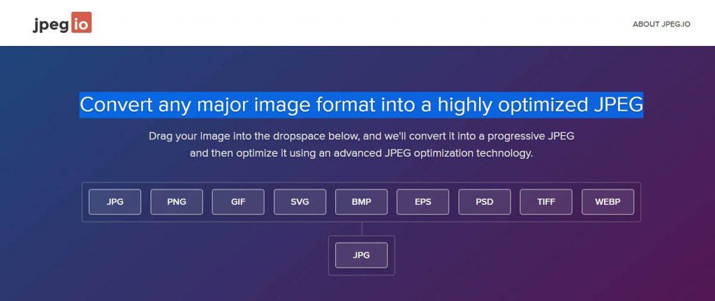 jpeg.io:在线JPEG图片格式转换工具