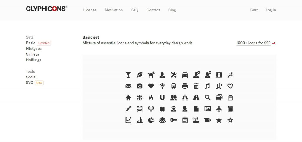 Glyphicons:简单的Bootstrap字体图标