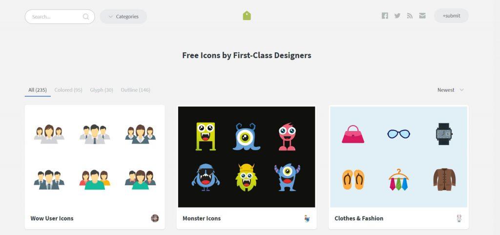 IconStore:高质量免费图标包素材站点