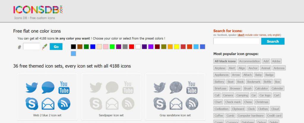 Iconsdb:免费icon图标下载库