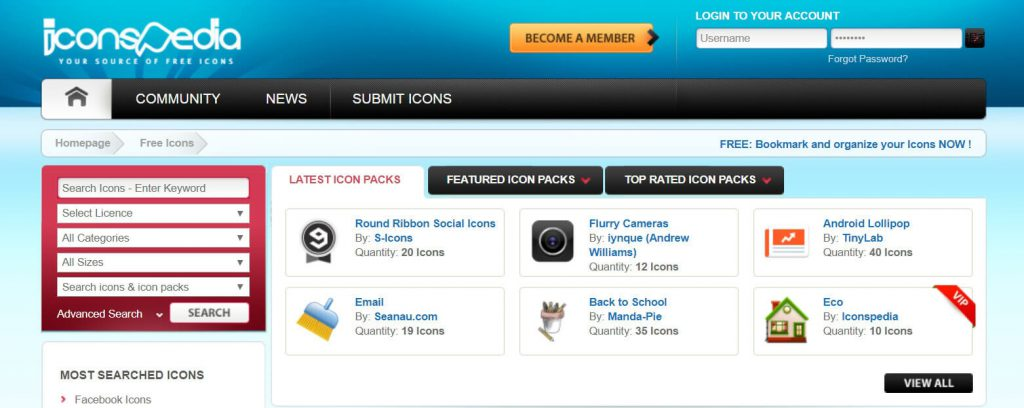 IconsPedia:免费png图标下载网站